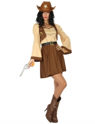 Kostume cowgirl fra den vilde vest
