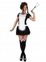 Fræk fransk stuepige kostume til kvinder