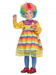 Kostume klovn multifarvet baby