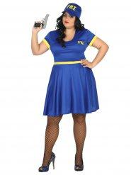 Kostume sexet FBI kvinde i blå