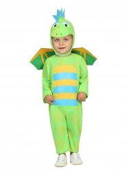 Kostume lille dinosaur til babyer grøn