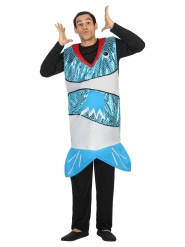 Kostume blå fisk til voksne