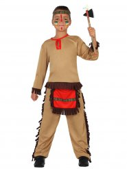 Kostume indianer dreng fra det vilde western