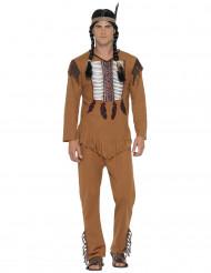 Kostume indianer med frynser