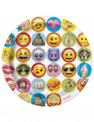 8 paptallerkener Emoji™ 23 cm
