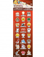 24 Klistermærker med emoji og tekst - Emoji™