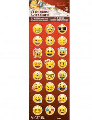 24 Klistermærker med ansigtigts emojis - Emoji™
