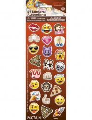 24 Klistermærker med sjove emojis - Emoji™