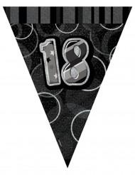 Vimpel guirlande grå 18 år 2,74 m