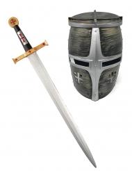 Sværd og hjelm ridder kriger til børn