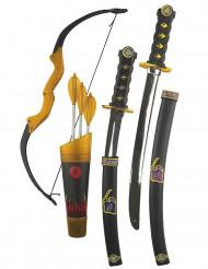 Sort ninja kit til børn