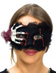 Stofmaske med skelethånd - Halloweenmaske til kvinder