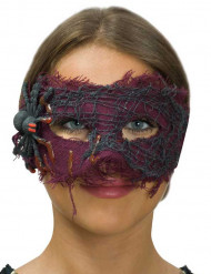 Violet stofmaske med edderkop til voksne