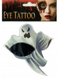 Øjetatovering med spøgelse - Halloween