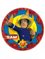 8 Paptallerkener Brandmand Sam™ 23 cm