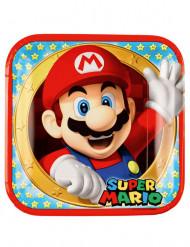 8 tallerkener i pap Super Mario™ 23 cm