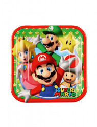 8 små paptallerkener Super Mario™ 18 cm