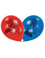 6 Latexballoner med Super Mario™