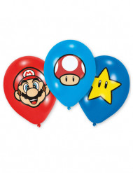 6 balloner i latex Super Mario™