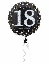 Aluminium ballon Happy Birthday holografisk 18 år