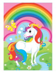 Plast poser 8 stk. unicorn og regnbuer