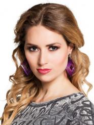 Øreringe violet klips