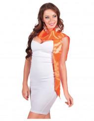 Tørklæde orange med pailletter til voksne