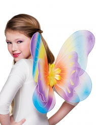 Sommerfugle vinger multifarvet 40x50 cm til piger