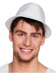 Hat borsalino med pailletter hvid til voksne