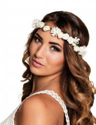 Blomsterkrans i hvid til kvinder