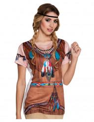 T-shirt indianer kvinde