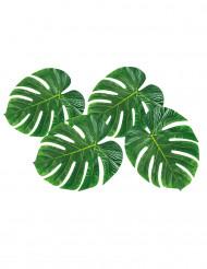 4 borddekorationer palmeblade 33 x 27 cm