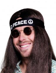 Pandebånd sort Peace til voksne