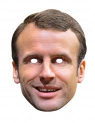 Maske i karton Emmanuel Macron