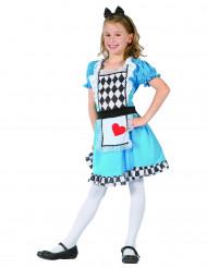 Kostume Alice med hjerter til piger