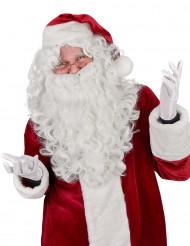 Julemands paryk med skæg luksus til voksne