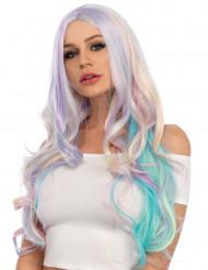 Pastelfarvet unicornparyk til kvinder