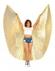 Kæmpe guldfarvet vinger til voksne