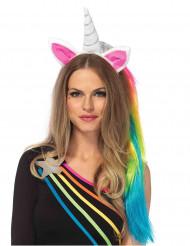 Unicorn hårbånd med multifarvet manke