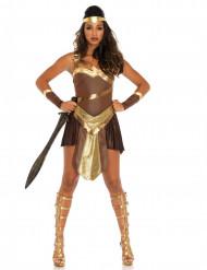 Kostume gladiator kriger guldfarvet