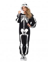 Skeletdragt Halloween kostume til voksne