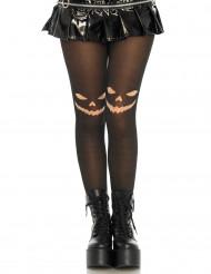 Strømpebukser med græskar til kvinder Halloween