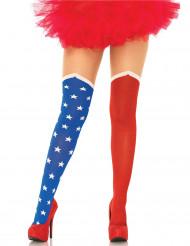 Strømpebukser amerikansk flag til kvinder