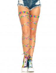 Sexet multifarvet bånd til ben