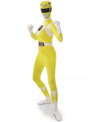 Kostume Second Skin Power Rangers™ Gul til kvinder