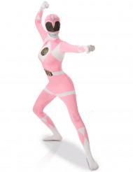Kostume Second Skin Power Rangers™ Lyserød til kvinder
