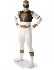 Kostume Second Skin Power Rangers™ Hvid til mænd