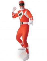 Kostume Second Skin Power Rangers™ Rød til mænd