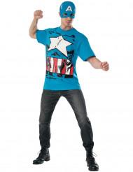 Kostume og maske Captain America™ Avengers til voksne
