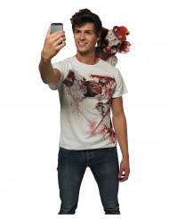 T-shirt clown selfie skræmmende